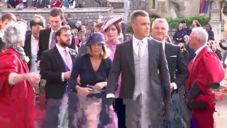 Celebs and royals arrive at Princess Eugenie and Jack