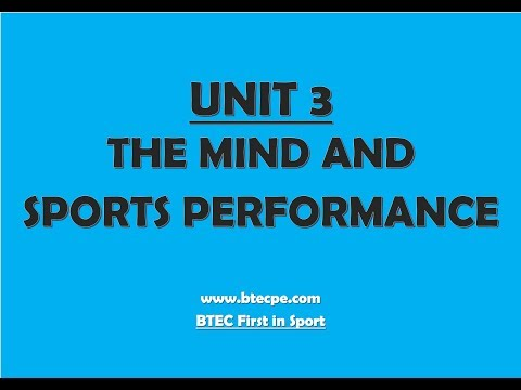BTEC PE - UNIT 3 Learning Aim B - MOTIVATION