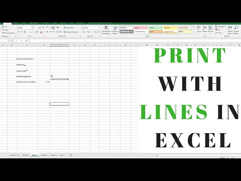 How to Print with Lines in Microsoft Excel