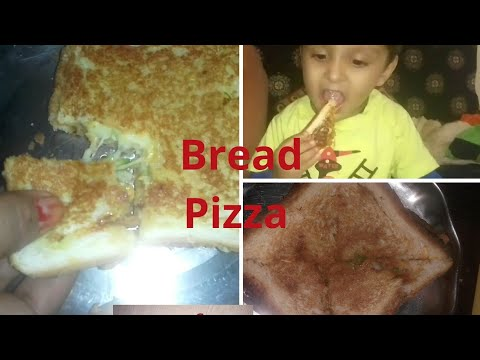 Cheesy||crunchy||bread Pizza@home||without microwave