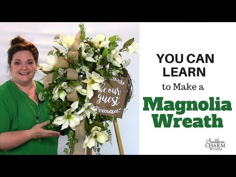 Wreath Making of the Month Club - July 2017 Learn to Make a Magnolia Wreath