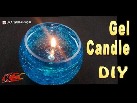 DIY Easy Gel Candles at home | How to make | JK Arts 1090