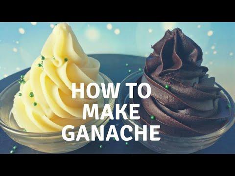How to make ganache | White and chocolate ganache frosting recipe