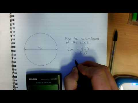 Finding Pi on the calculator and & using Pi