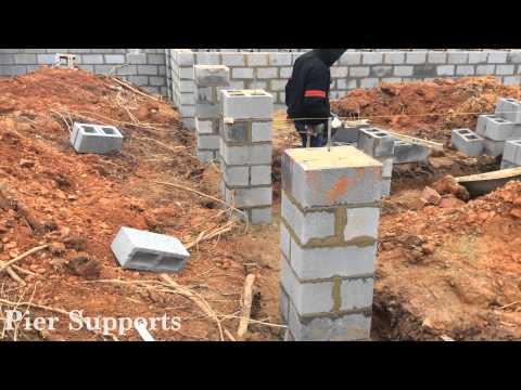 Hudgins Homes Brick Foundation Install