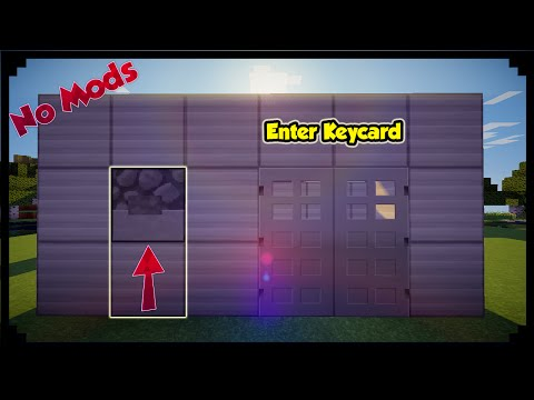 ✔ Minecraft: How To Make Security Key Card Door!
