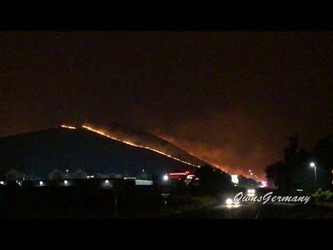 Candy Mountain Fire Crawls Down Hill to Richland, WA