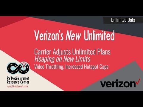 Verizon Adjusts New Unlimited Plans - Video Throttling, Higher Hotspot Caps, Base Plan