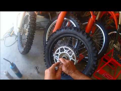 KTM Wheel Bearing Removal