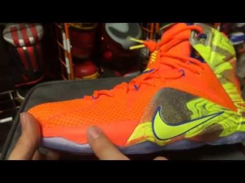 Nike LeBron 12  Six Meridians  - Hyper Crimson Metallic Cool Grey Hyper dfbfd33d7
