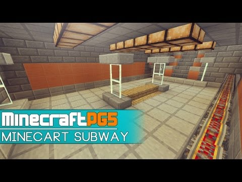 Minecart Subway with Cart Trains - Metro - Minecraft