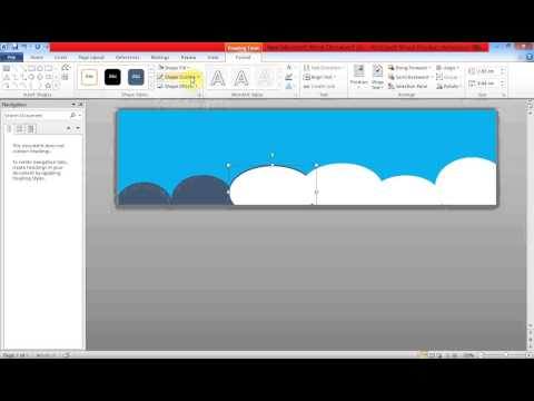 Create Banner Using MS Word