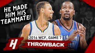 The Game Stephen Curry Made Kevin Durant his Teammate, Game 7 Duel Highlights 2016 WCF - UNREAL!