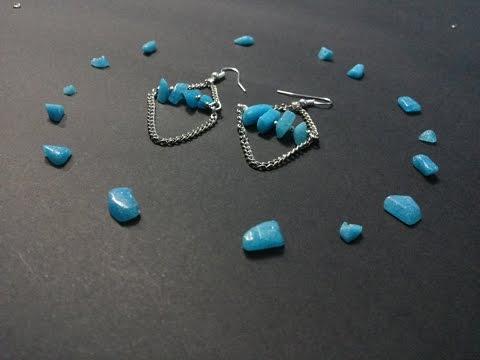 how to: DIY Simple dangling earrings