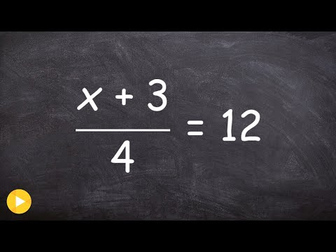 Solving two step equation with two terms in the numerator