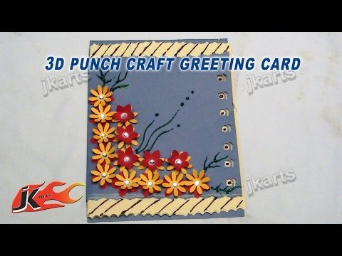DIY Easy Punch Craft Christmas Card |  How To Make | School Project for Kids | JK Arts 120