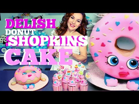 SHOPKINS PINK FONDANT DELISH DONUT CHOCOLATE MUD CAKE W/ SPRINKLES   BY VERUSCA WALKER