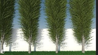 How to create Tree and Grass with Plugin - Tutorial Sketchup