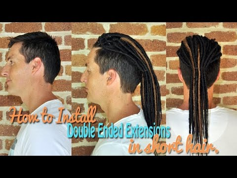 How to install double ended extensions in short hair
