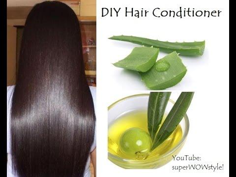 DIY Homemade Hair Conditioner _ Aloe Vera & Argan Oil For Dry Hair _ superwowstyle