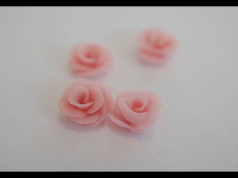 Tiny Roses For Miniature Cakes, Miniature Rose Tutorial, Polymer Clay Food