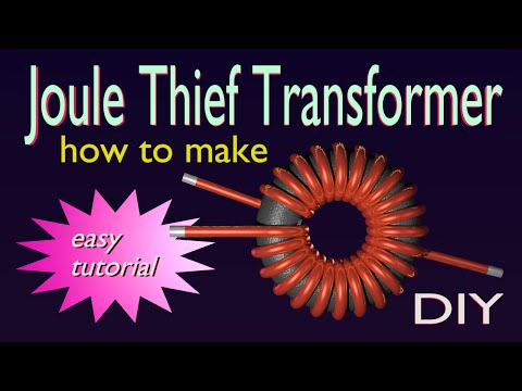 JouleThief Transformer - how to make - DIY