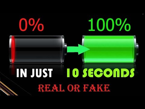 VIRAL-Charge your phone in 10 seconds with PROOF  ,  REAL OR FAKE