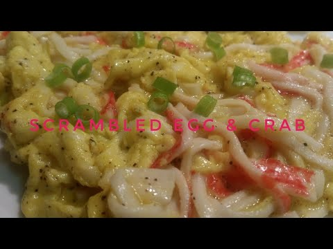 HOW TO COOK SCRAMBLED EGG & CRAB