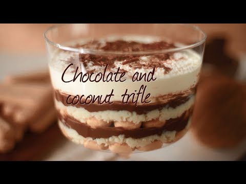Chocolate coconut trifle | Recipe video