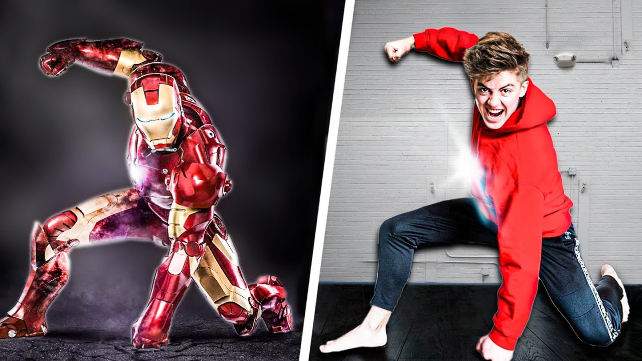 We Tried Marvel Stunts In Real Life! - Challenge