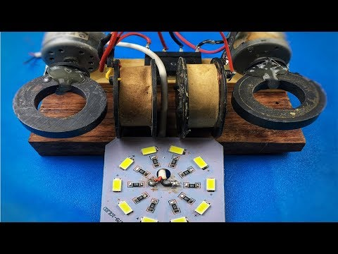 How to make self running machine free energy generator electricity by dc motor
