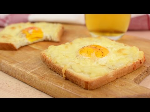 Cheesy Baked Egg Toast - How to Make Egg & Cheese Toasts