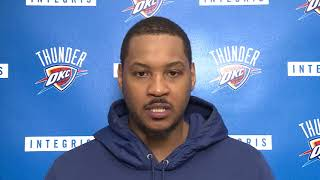 Carmelo Anthony Post-Practice Interview / Feb 21 / 2017-18 NBA Season
