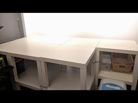 How to build a LEGO table out of IKEA LACK tables
