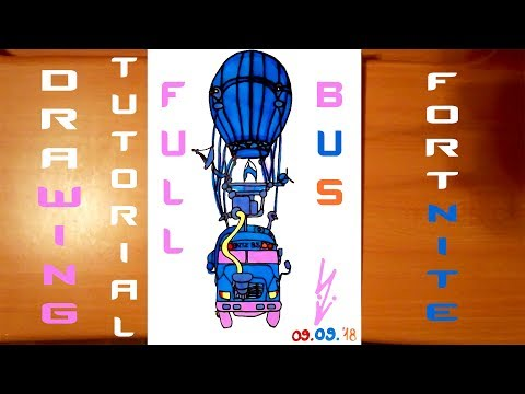 How To Draw Fortnite Battle Bus Step By Step Easy And Color 5k 60fps