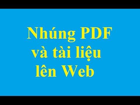 Cách nhúng file PDF và các tài liệu khác lên Web - http://taimienphi.vn