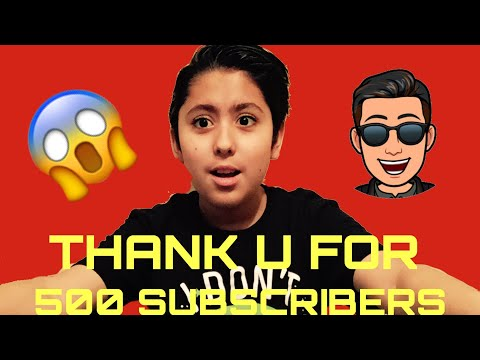 Thank u For 500 Subscribers