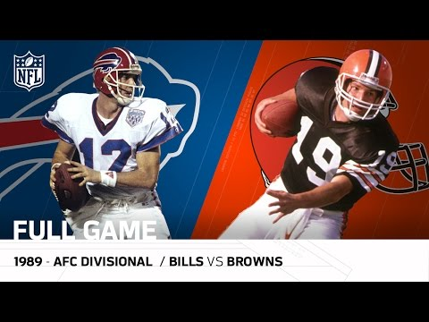 1989 AFC Divisional Playoff Game: Buffalo Bills vs. Cleveland Browns | NFL Full Game