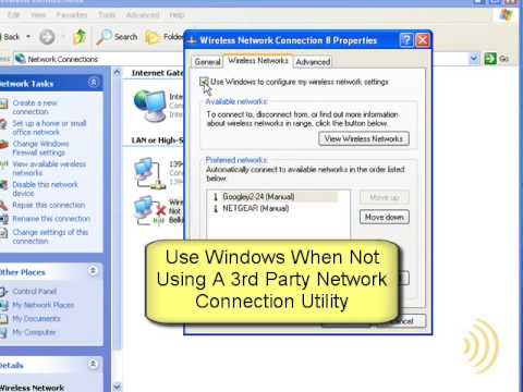 Wireless Networking - Manually Connect Windows XP - Part 1