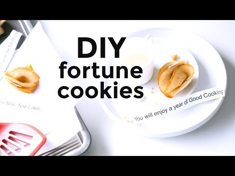 DIY Make-Your-Own Fortune Cookies