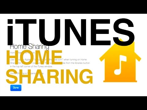How To Turn ON iTunes Home Sharing on your computer Mac/Windows