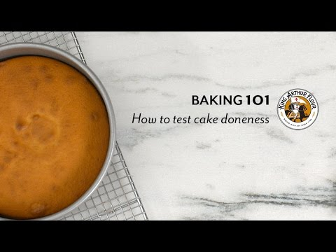 How to test cake doneness