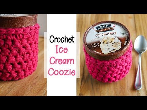 Crochet Ice Cream Coozie
