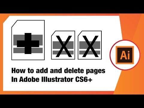 How To Add And Delete Pages In Adobe Illustrator CS6+