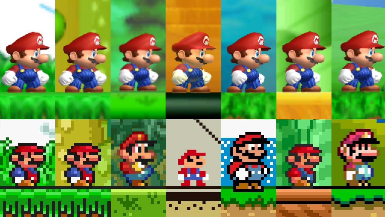 New Super Mario All-Stars - All First Levels. ᴴᴰ