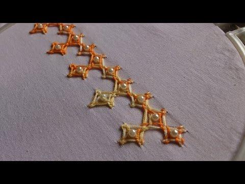 Hand embroidery designs. kutch work stitches tutorial. kutch work kutch work pattern.