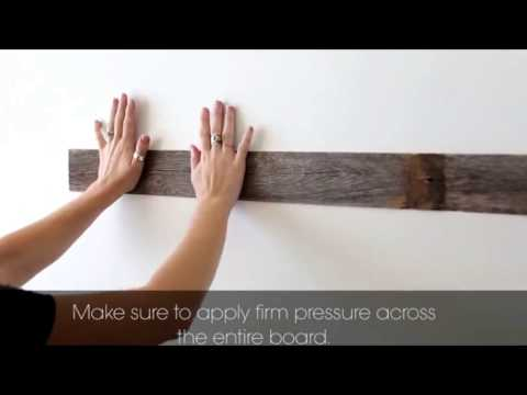 How To Apply DIY Reclaimed Barn Wood Panel Wall For Your Home Decor