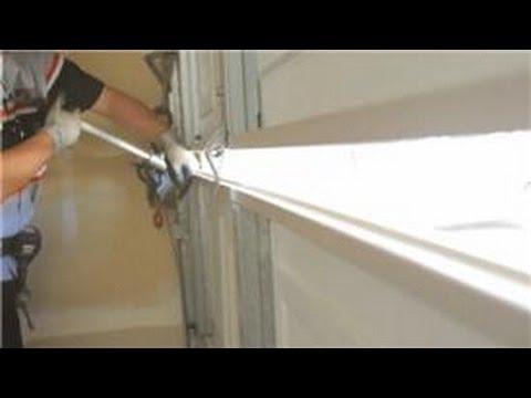 Garage Door Help : How to Replace a Single Garage Door Panel