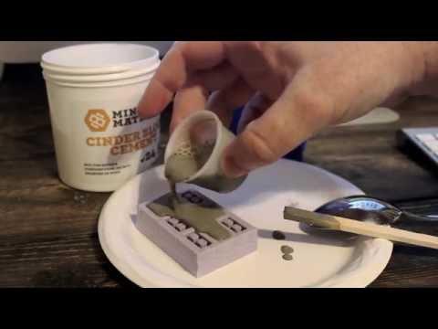 Pouring Mini Cinder Blocks