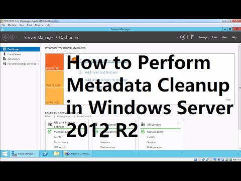 30. How to Perform Metadata Cleanup in Windows Server 2012 R2